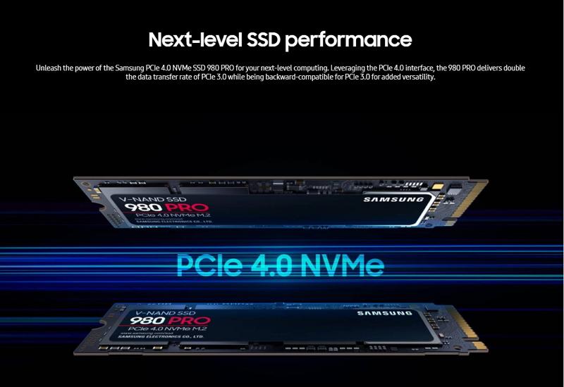 SAMSUNG 980 PRO NVMe M.2 SSD 250GB เอสเอสดี (MZ-V8P250BW)