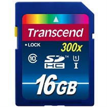 Transcend 16GB High Speed 10 UHS Flash Memory Card (TS16GSDU1)