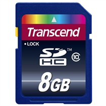 Transcend SD Card Class 10 8GB (TS8GSDHC10)