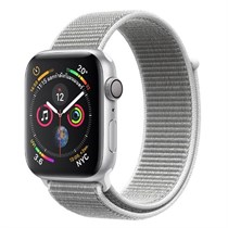 Apple Watch Series 4 GPS + Cellular, Silver Aluminium Case with Seashell Sport Loop