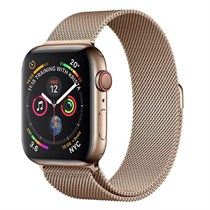 Apple Watch Series 4 GPS + Cellular, Gold Stainless Steel Case with Gold Milanese Loop